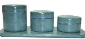 Green Marble Amenity Jars