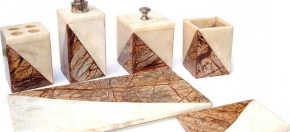 Brown-vein & Agate Bath Accessories