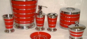 Red Powder-Coated Bath Accessories