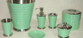 Green Powder-Coated Bath Accessories
