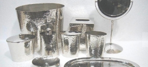 Hammered Metal Bathroom Collection