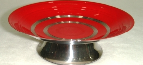 Red Powder-coated Footed Soap Dish