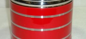Red Powder-coated Round Tissue Box