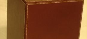 Brown Faux Boutique Tissue Cover