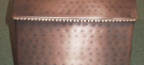 Copper Antique Beaded Tissue Box