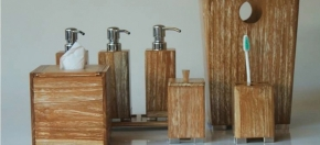 Washed Teakwood Bath Products