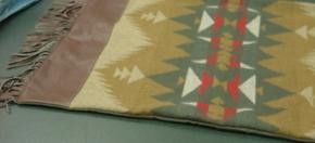 Pendleton Wool & Leather Pillow