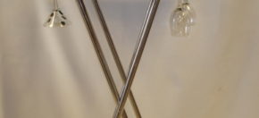 Stainless Steel & Leather Bar Stand