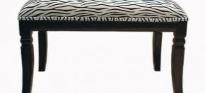 Zebra-printed Cowhide Bench
