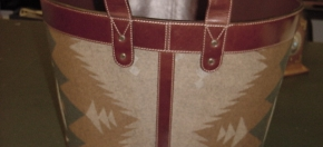 Pendle Woolen Fabric & Leather Magazine Tote