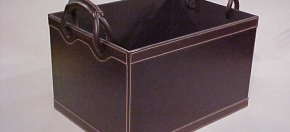 Dark Brown Leather Magazine Box