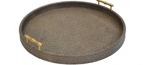 Shagreen Leather Round Tray