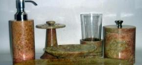Brown Cloud Marble Bath Accessories