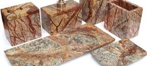 Brown Vein Marble Bath Accessories