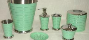 Green Powder-Coated Bath Accessories