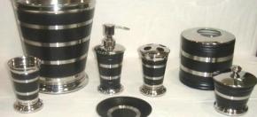 Black Matte Powder-Coated Bath Accessories