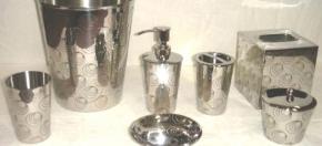 Hammered Nickel-finish Bath Accessories