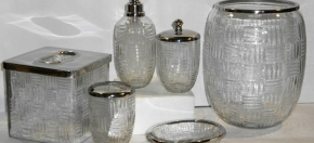 Pressed Glass Bath Collection