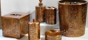 Copper-finish Laser-cut Bath Accessories
