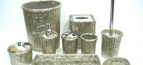 Woven Metal Bathroom Collection