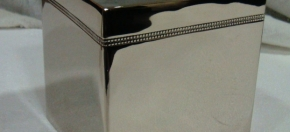 Nickel finish Beaded Tissue Cover