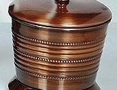 Copper Antique Beaded Amenity Jar