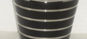 Black Matte Powder-Coated Wastebasket