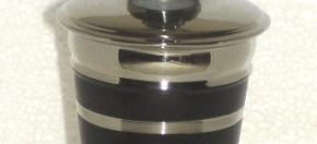 Black Matte Powder-Coated Amenity Jar