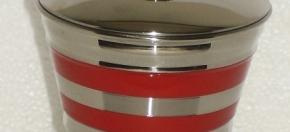 Red Powder-Coated Amenity Jar