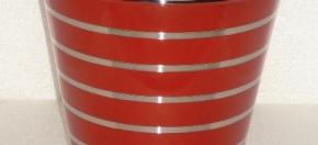 Red Powder-Coated Wastebasket