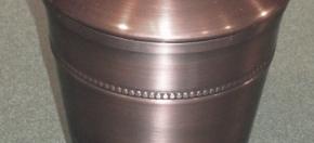 Copper Antique Beaded Tall Amenity Jar