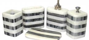 Black & White Marble Bath Set