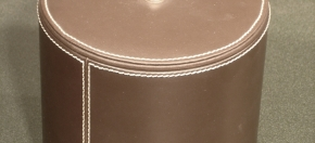 Brown Faux Leather Ice Bucket