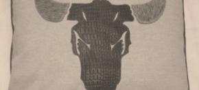 Cotton Pillow w/Laser-cut Longhorn Steer
