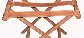 Leather Covered Luggage Rack