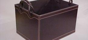 Dark Brown Leather Magazine Box