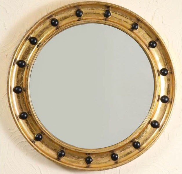 antique round mirrors for walls images