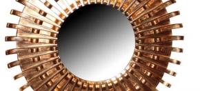 Antiqued Copper Sunburst Mirror