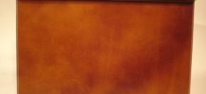 Tan Leather Reception Blotter