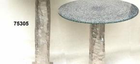 Aluminium Tables w/Mosaic Glass Tops