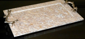 Mother-of-Pearl Inlaid Bar Tray