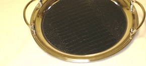 Silver-plated Gallery Tray w/Croco Insert