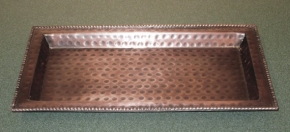 Hammered Antiqued Copper Finish Tray
