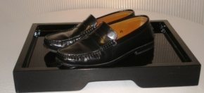 Black Lacquer Shoe Tray