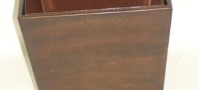 Wood Wastebasket w/Matching Metal Liner